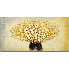 Bunched Cherry Blossoms Painting on Canvas