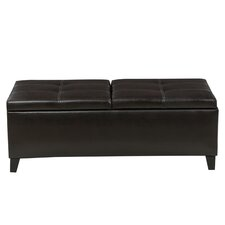 Jefferson Leather Storage Ottoman by Latitude Run