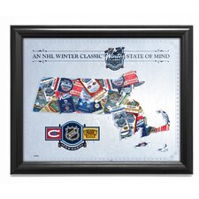 NHL '2016 Winter Classic State of Mind - Massachusetts - Canadians vs Bruins' Framed Wall Art