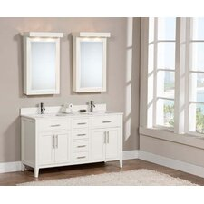 Lisbon 61 Double Bathroom Vanity Set by Harper Beach