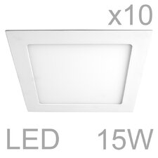 10-tlg. 10-tlg. LED Einbaustrahler-Set eckig Celica
