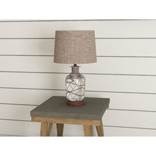 "Clora Jute-Wrapped Mercury Glass 24"" Table Lamp"