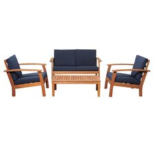 Elsmere 4 Piece Deep Seating Group with Cushion