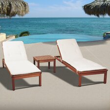 Elsmere 3 Piece Chaise Lounge Set with Cushions