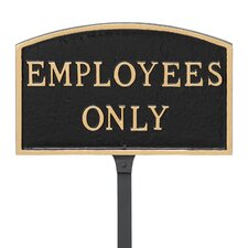 Arch Employees Only Statement Address Plaque