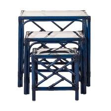 Chippendale 3 Piece Nesting Tables by David Francis Furniture