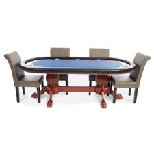 Rockwell 8 Piece Poker Dining Table Set with Lounge Chairs by BBO Poker