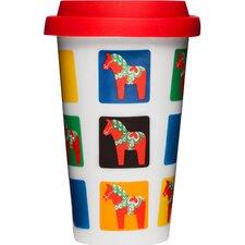 Dala Horse Take Away 8.5 oz. Mug (Set of 2)