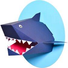 Oceanography Xander the Shark Paper Bust Wall Decor