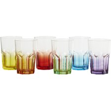 Crazy Colours 0.4L Long Drink Glass