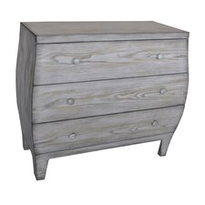 Forestdale 3 Drawer Light Driftwood Curved Chest by Beachcrest Home