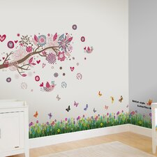 Bird and Butt Grass Wall Sticker
