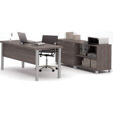 Ariana 3-Piece U-Shape Desk Office Suite