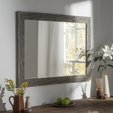Wood Effect Wall Mirror
