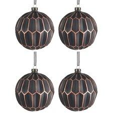 4 Piece Glass Ball Ornament Set (Set of 4)