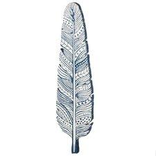 Vertical Feather Shape Wall Décor
