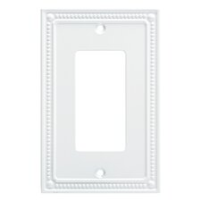 Classic Beaded Single Decorator Wall Plate