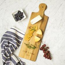 Personalized Acacia Bread Serving Board with Ceramic Dish