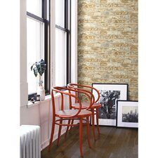 """Peel and Stick 20.5' x 16.5"""" Brick 3D Embossed Roll Wallpaper"""