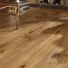 "Maison 7"" Engineered Hickory Hardwood Flooring in Champagne"