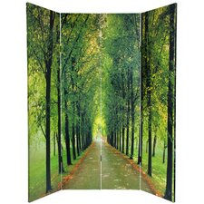 70.88 x 63 Double Sided Path of Life 4 Panel Room Divider by Oriental Furniture