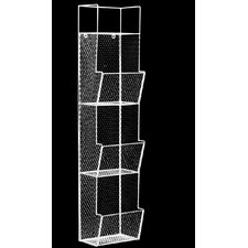 3 Bins Top Shelf Metal Wall Rack