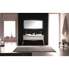 Riso 64 Double Sink Modern Bathroom Vanity by Kube Bath