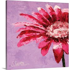 'Pink is for Girls' by Leslie Saeta Painting Print on Wrapped Canvas