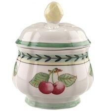 French Garden 6.75 oz. Fleur Sugar Bowl with Lid