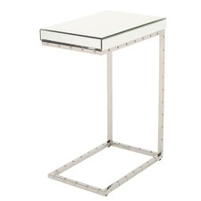 Gayhart Mirrored C-shape Accent End Tabe by Mercer41™