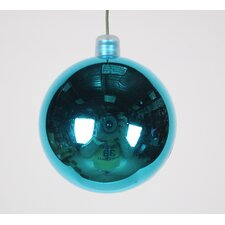 Glitter Aqua Ball Ornament