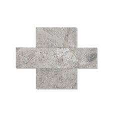 """Silver Galaxy 3"""" x 6"""" Marble Tile Polished"""
