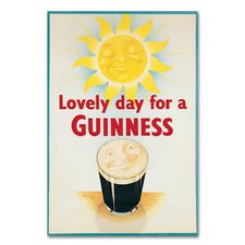 Lovely Day For A Guinness XIV by Guinness Brewery Vintage Advertisement on Wrapped Canvas by Trademark Fine Art