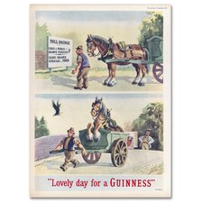 Lovely Day For A Guinness XI by Guinness Brewery Vintage Advertisement on Wrapped Canvas  by Trademark Fine Art