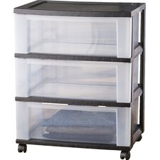 Wayfair Basics Wide 3 Drawer Storage Cart