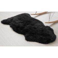Handmade Black Area Rug