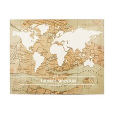 Personalized Travel the World Graphic Art on Wrapped Canvas