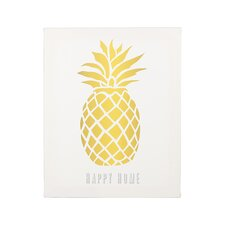 Personalized Pineapple Graphic Art on Wrapped Canvas