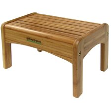 1-Step Bamboo Growing Up Green Step Stool with 200 lb. Load Capacity