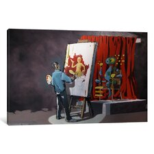 Abstract Portrait of an Artist by Banksy Painting Print on Wrapped Canvas