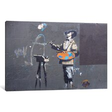 Portrait of an Artist by Banksy Graphic Art on Wrapped Canvas