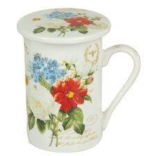 3-tlg. Tee-Set Flowers Bouquet