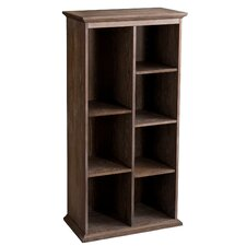 Tillson Burnt Oak Display Shelf 60 Cube Unit Bookcase by Darby Home Co