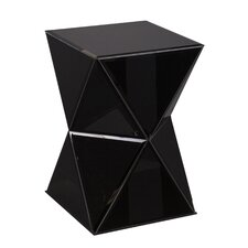 Mackenzie Mirrored End Table in Black