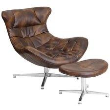 Cocoon Lounge Chair and Ottoman by Flash Furniture