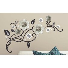 Floral Scroll Peel and Stick Wall Decal