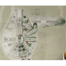 Star Wars Millennium Falcon Wall Mural