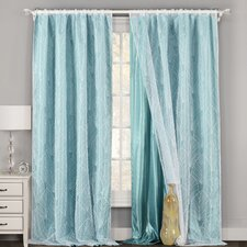 Skyler Nature/Floral Sheer Single Curtain Panel