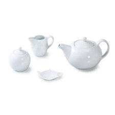4 Piece Porcelain Coupe Tea Set
