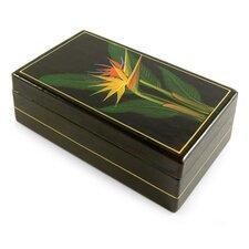 Decorative Bird of Paradise Lacquerware Mango Jewelry Box